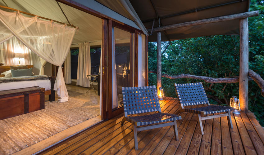 Guest tent and deck
