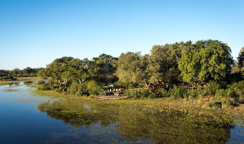 Tubu Tree Camp during the high water season