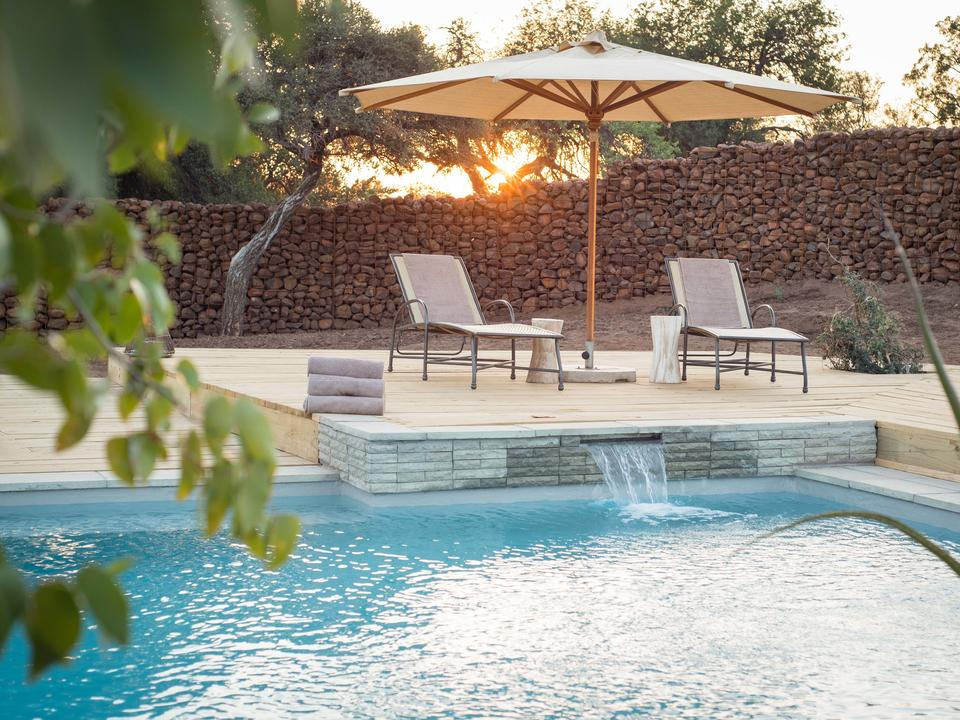 The rim-flow pool is perfect to cool down in and enjoy some down-time between morning and afternoon activites