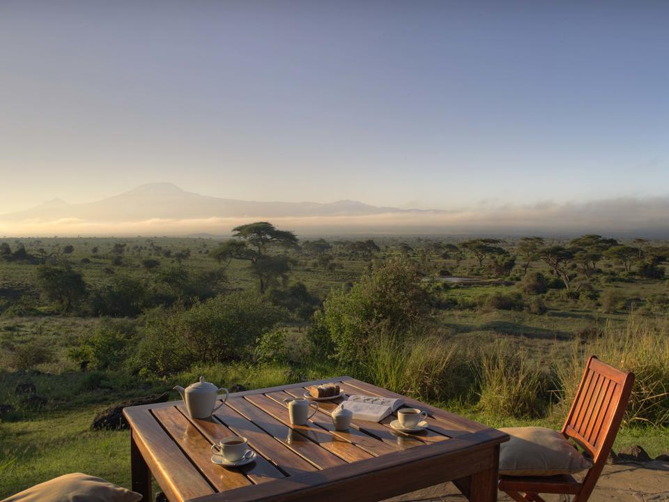 Frühstück mit Kilimandscharo
