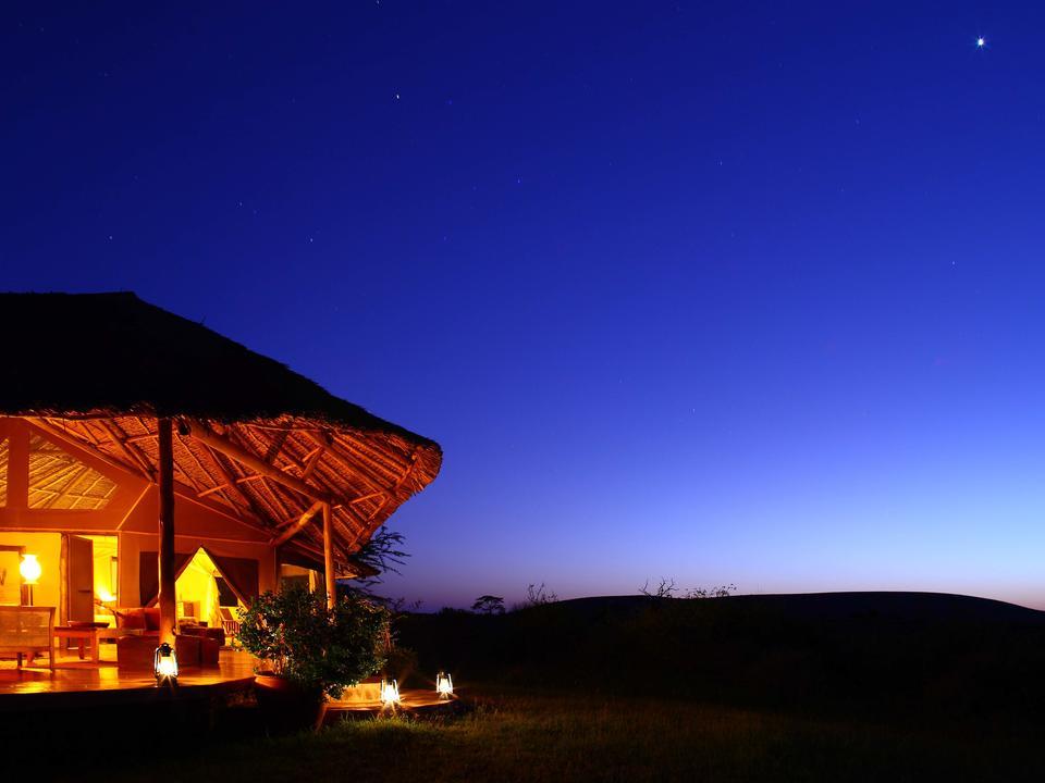 Privathaus bei Nacht