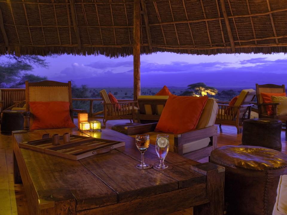 Spektakuläre Aussicht von der Bar & Lounge