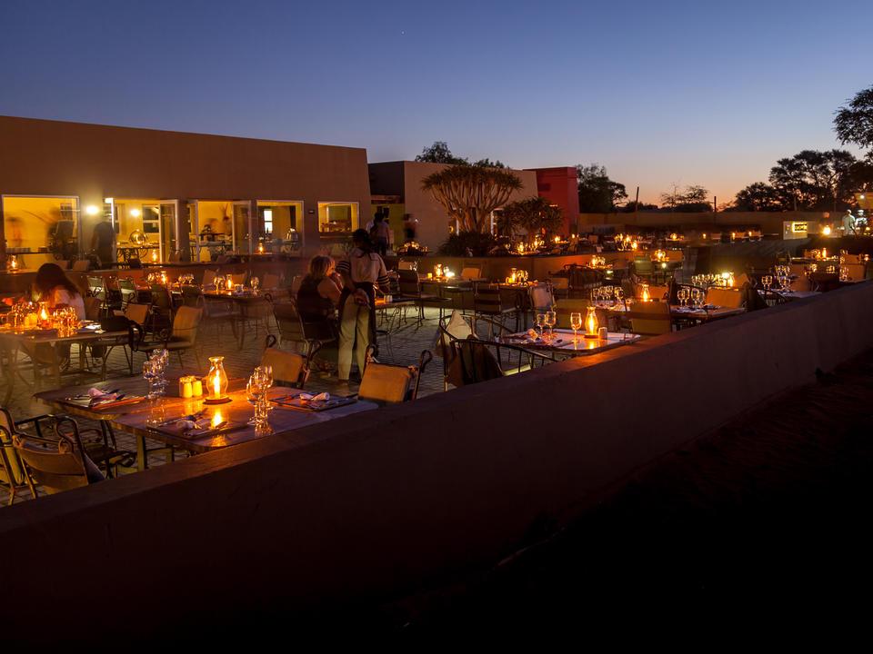 Al Fresco Terrasse zum Abendessen
