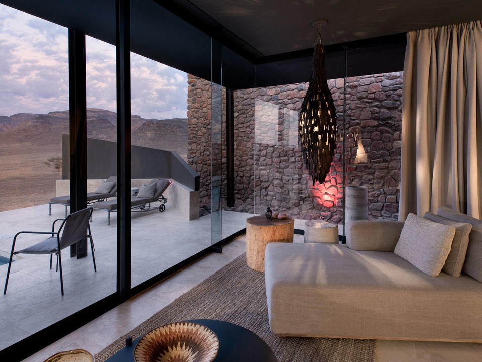Blick auf die Gäste-Suite