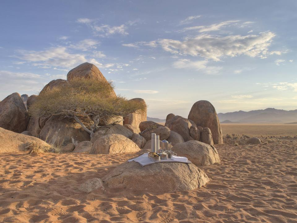 Trinken Stopp in der Wüste