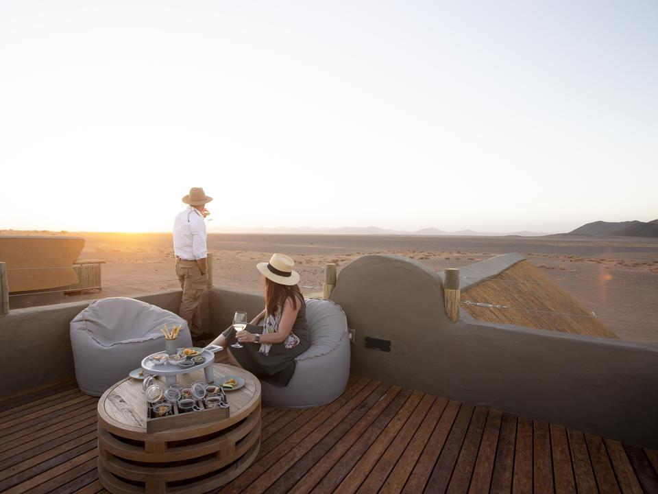 """Der private Dachbereich jedes Zimmers kann jetzt für Sundowner, """"afrikanische Tapas"""" und Abendessen auf dem Dach oder zur Sternbeobachtung genutzt werden"""