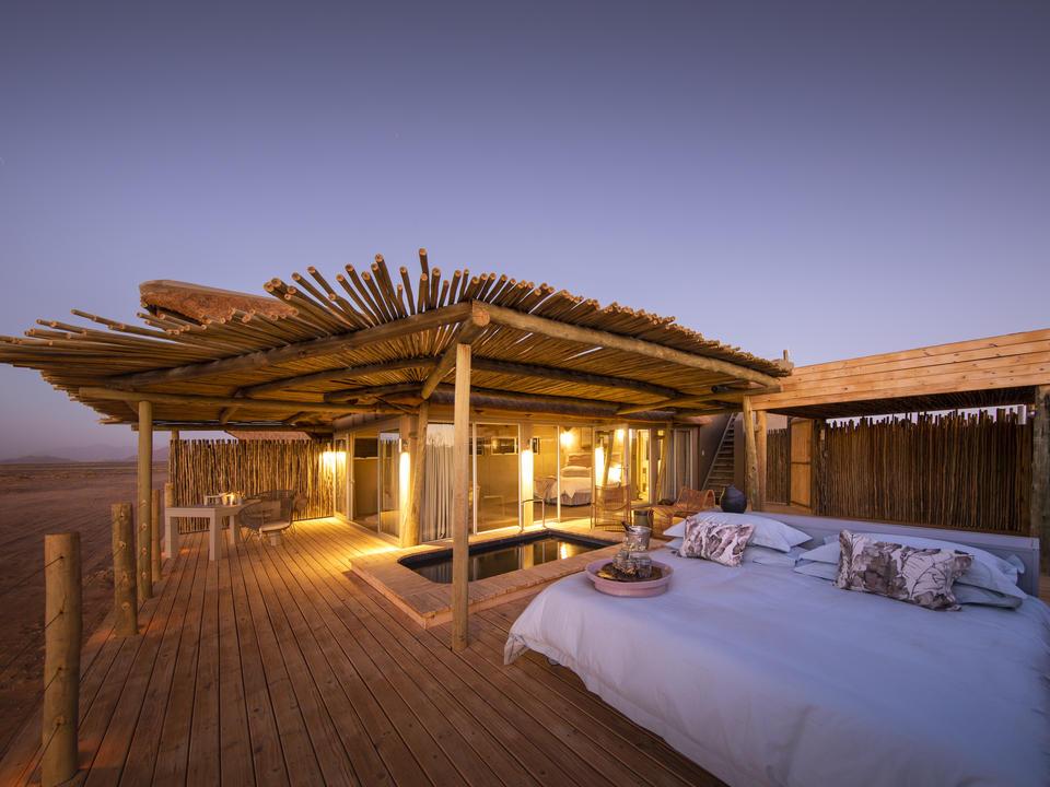 Die schattige Sala jedes Zimmers verfügt über ein Rollbett für Siestas während des Tages oder für Ausflüge unter den Sternen