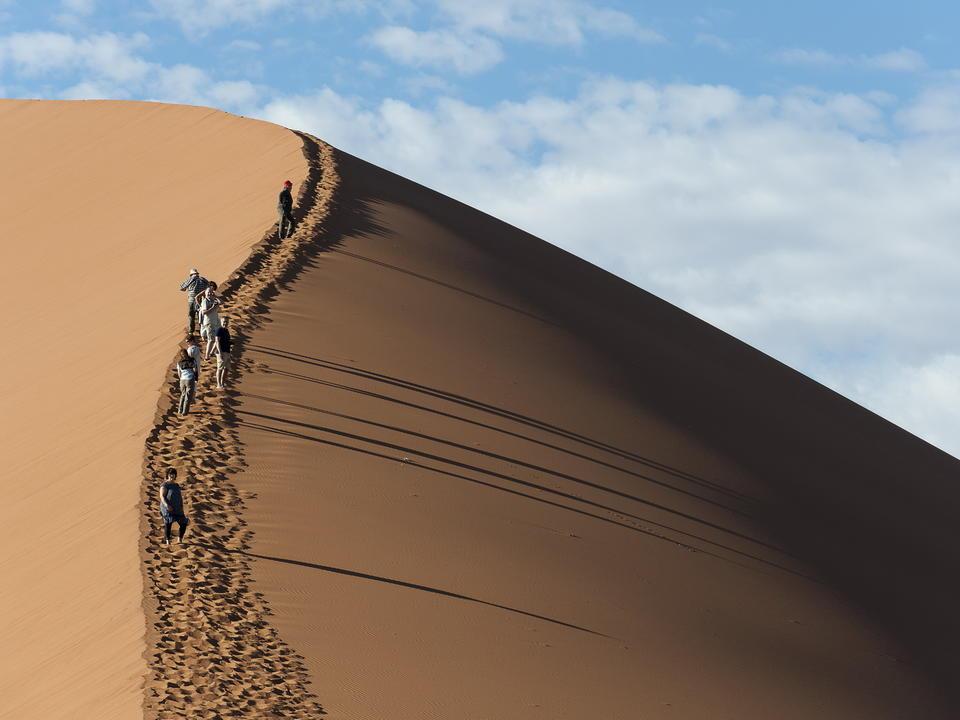 Klettern Big Daddy, eine der höchsten Dünen der Welt
