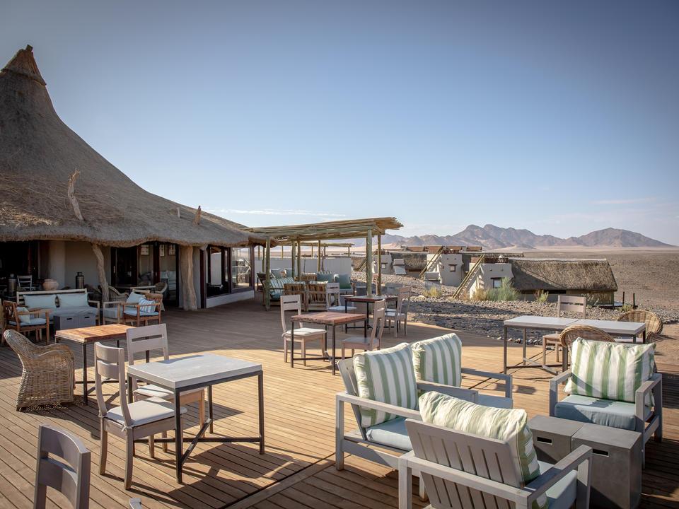 Der Essbereich in der Kulala Desert Lodge