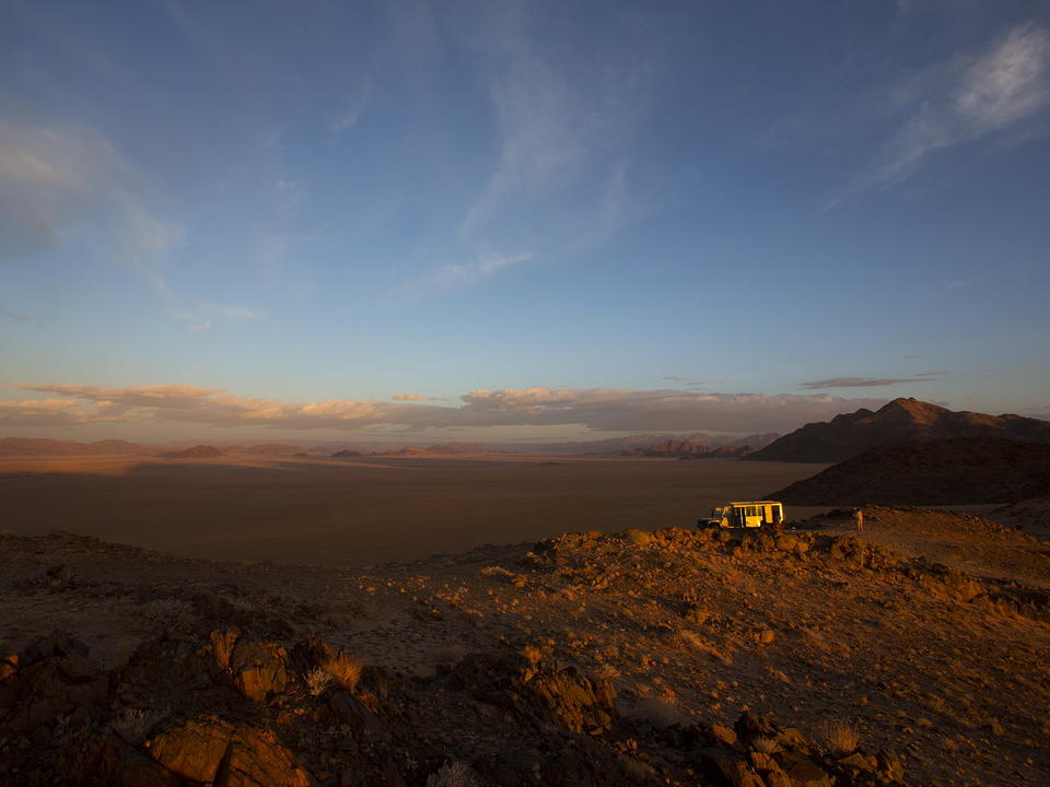 Sunset Fahrt auf dem Kulala Wilderness Reserve