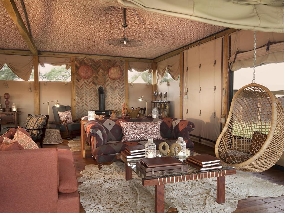 Loungebereich im Somalisa Camp