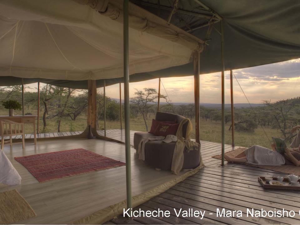 Zelt mit toller Aussicht und kann an drei Seiten geöffnet werden