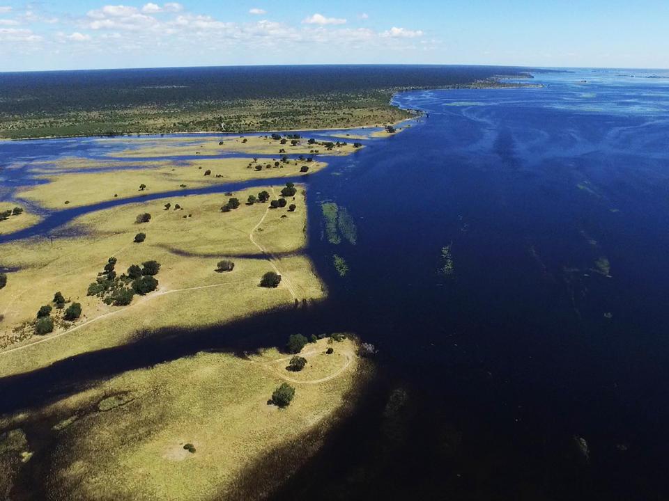 Der Chobe bei Hochwasser