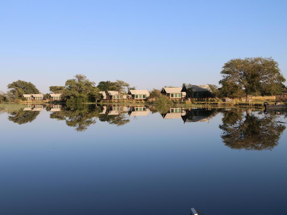 Blick auf das Chobe River Camp