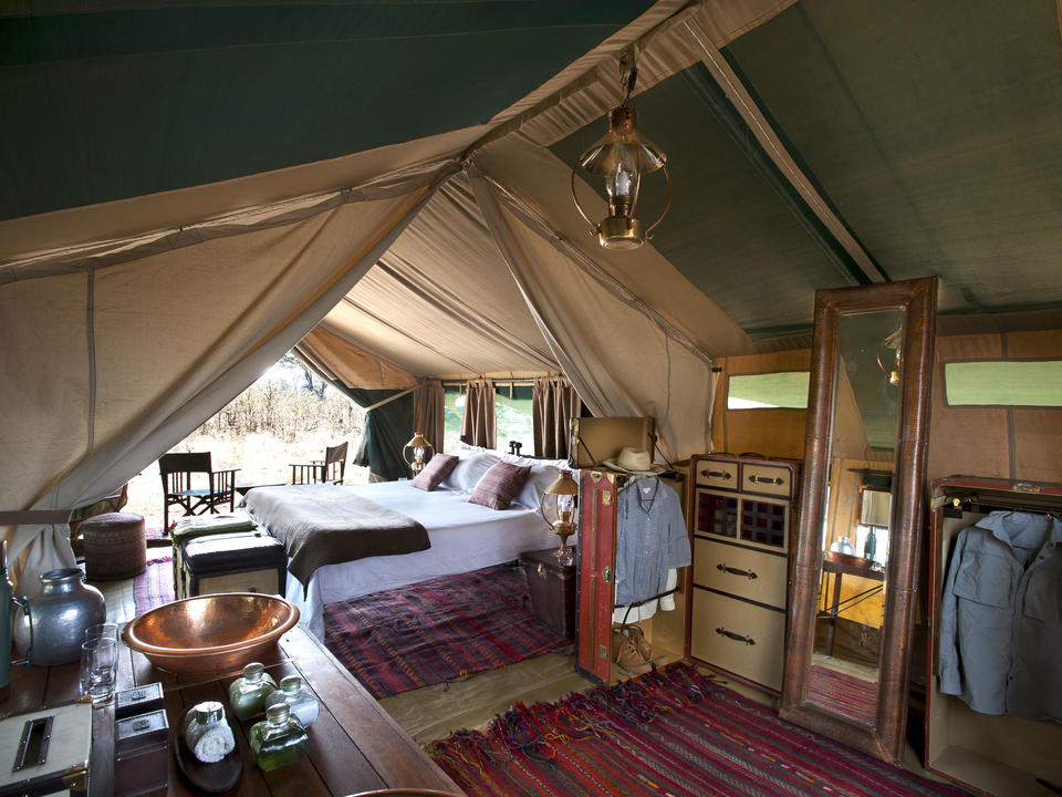 Selinda Explorers Camp Zelt Innen