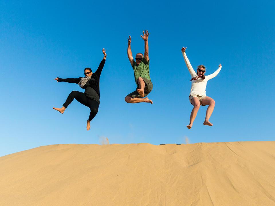 Spaß in den Dünen