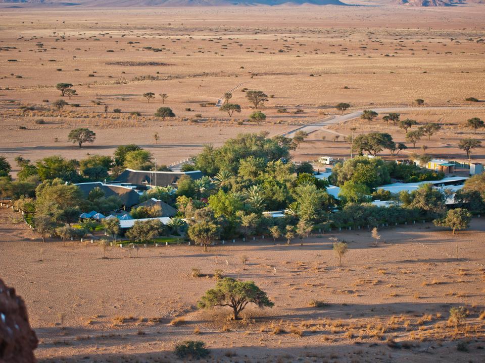 Blick auf  Namib Desert Lodge