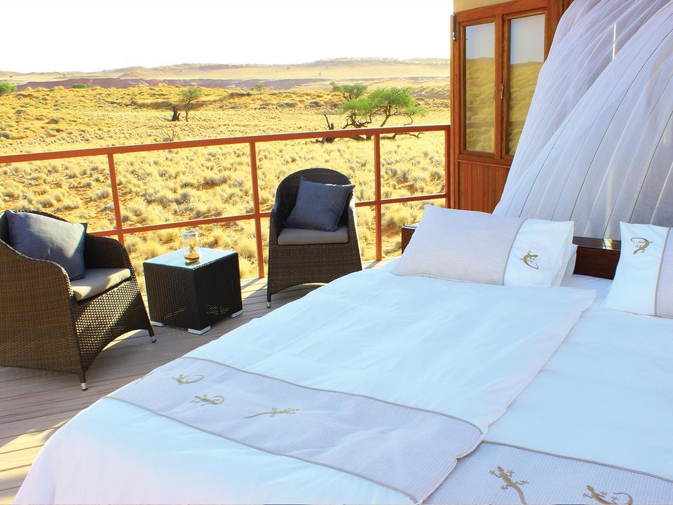 Wussten Sie, dass Sie Ihr Bett auf die Terrasse Ihres Chalets rollen können?