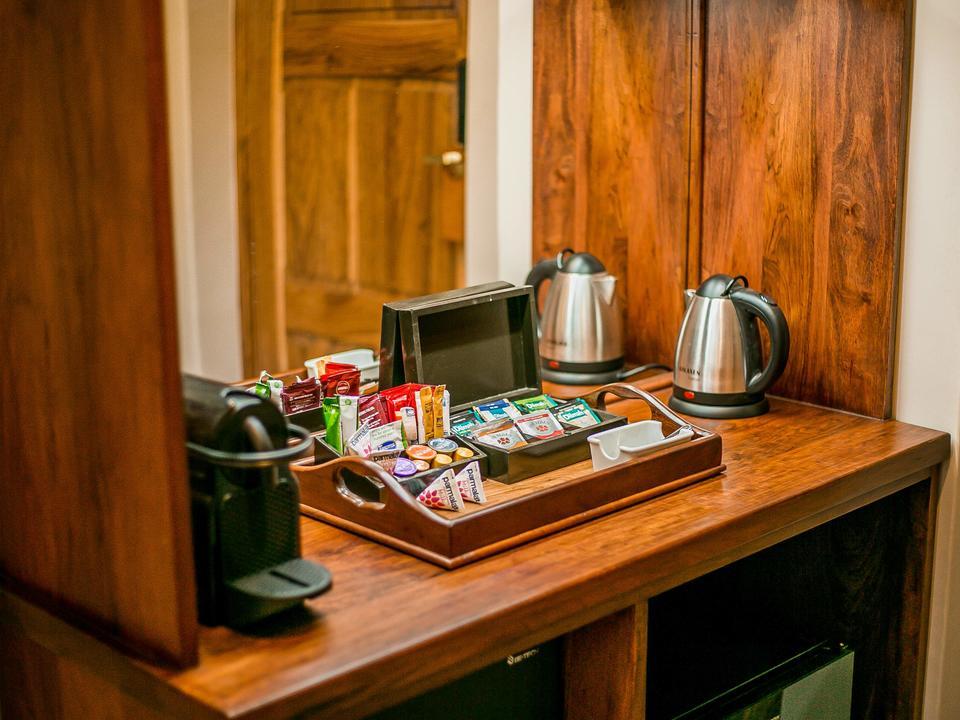Deluxe Zimmer, Kaffeestation