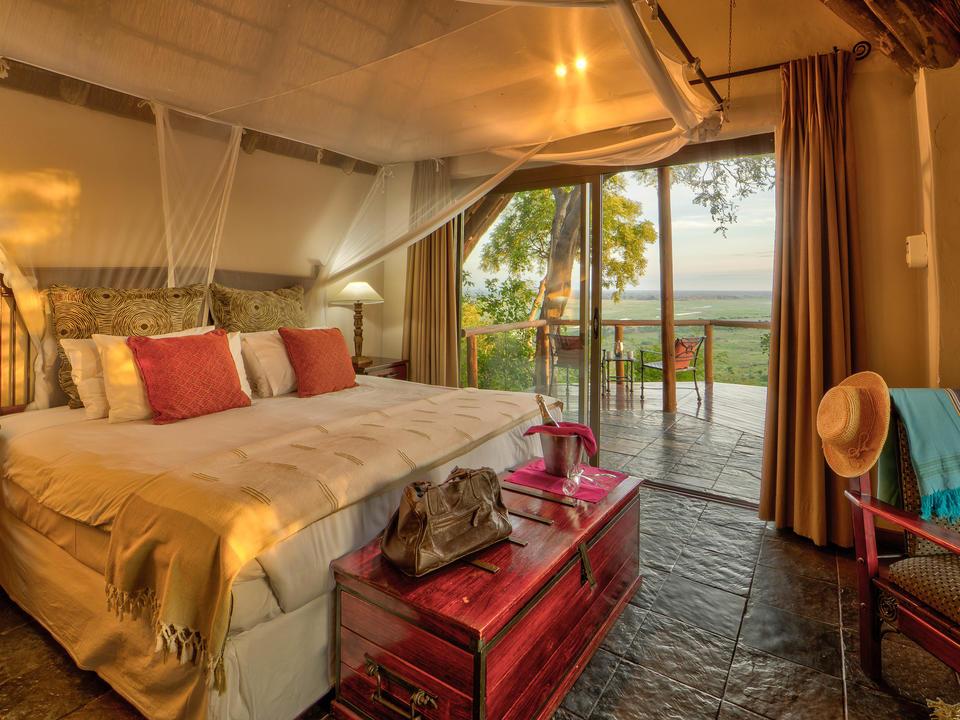Standard Ferienhaus mit Blick auf die Chobe Hochwasserebene