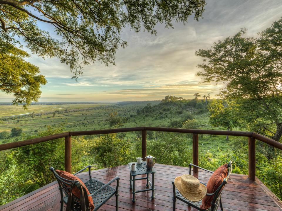 Schöne Panoramaaussicht von allen Ferienhäusern