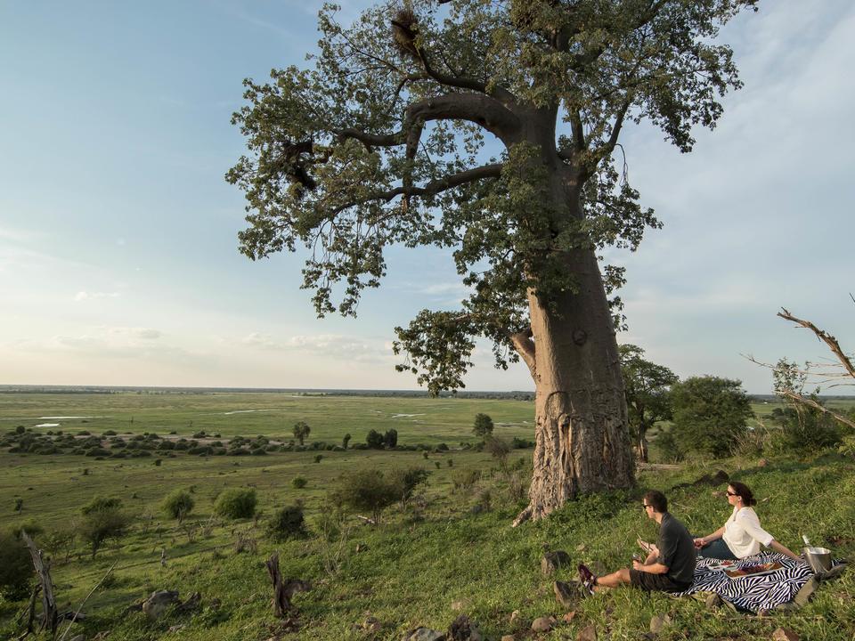 Genießen Sie Muchenje bei längerem Aufenthalt exklusive Picknicks am Ufer der Chobe.