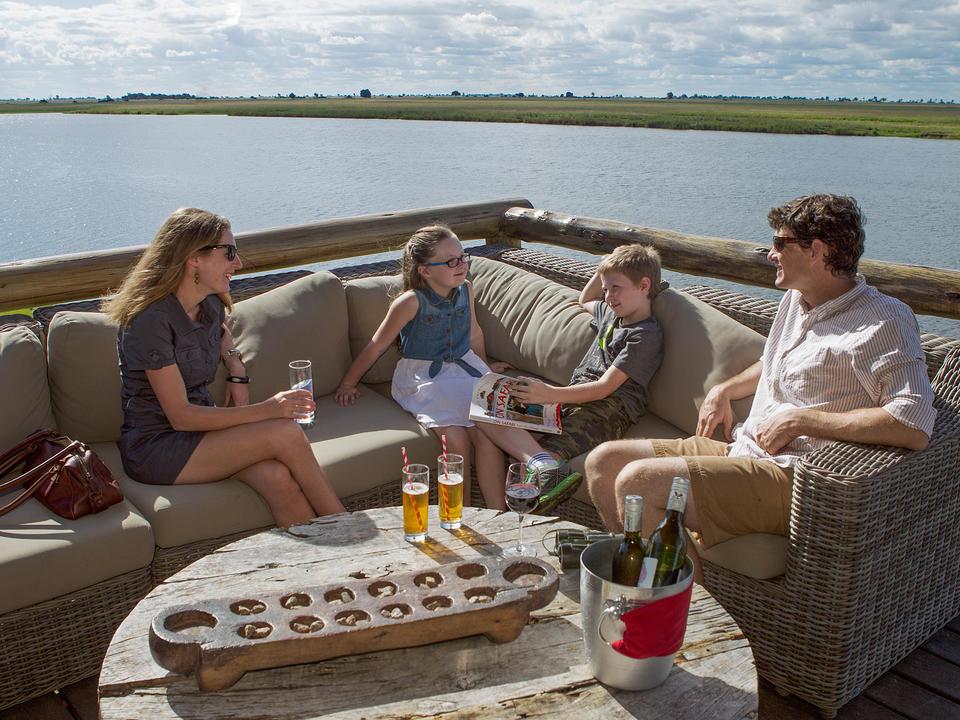 Genießen Sie die ruhige Lage in der Chobe Game Lodge