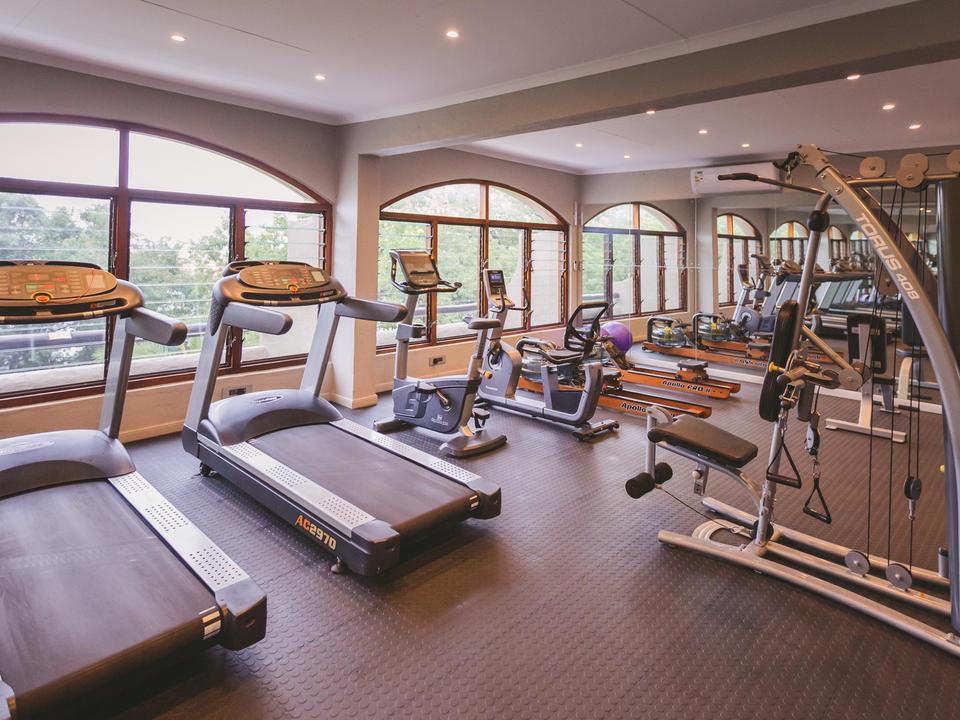 Der Fitnessraum der Chobe Game Lodge steht allen Gästen zur Verfügung.