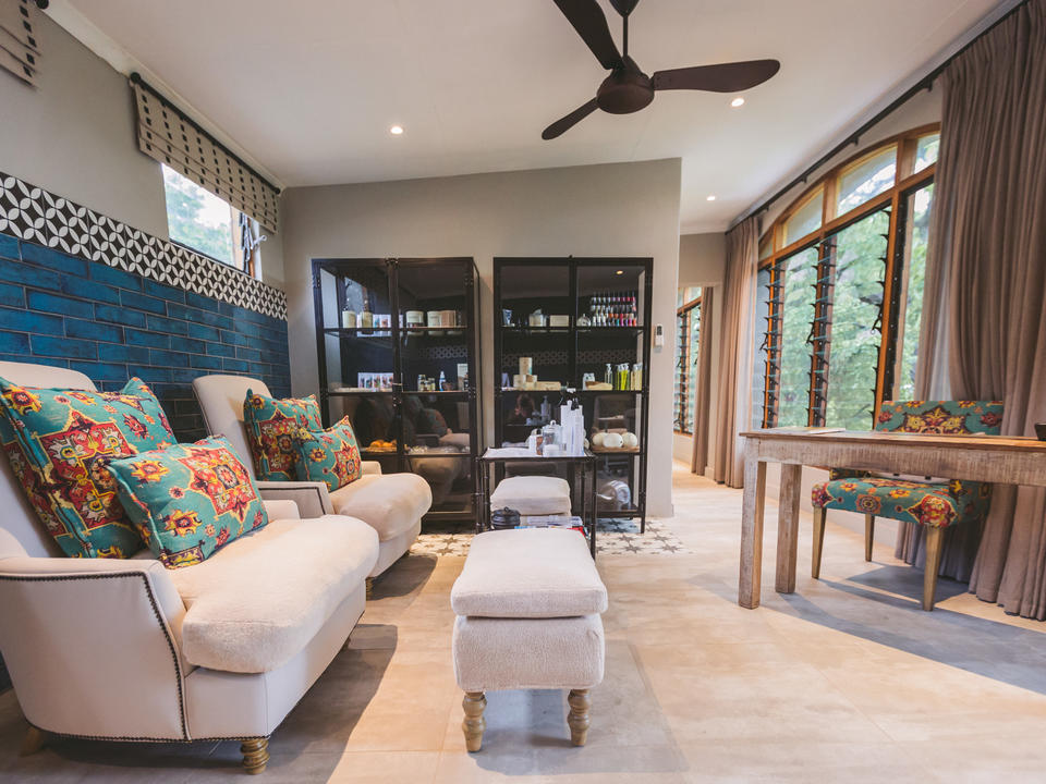 Im Inneren der neuen Chobe Game Lodge Spa Behandlungsräume