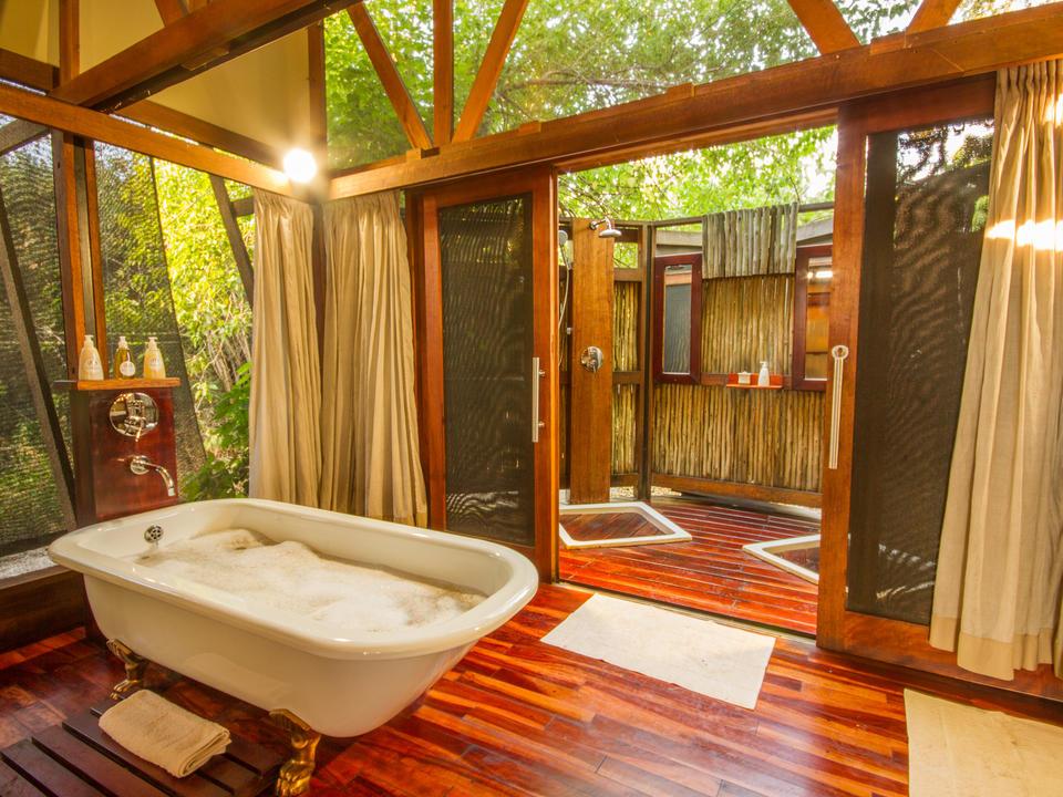 Gäste Zelt Badezimmer