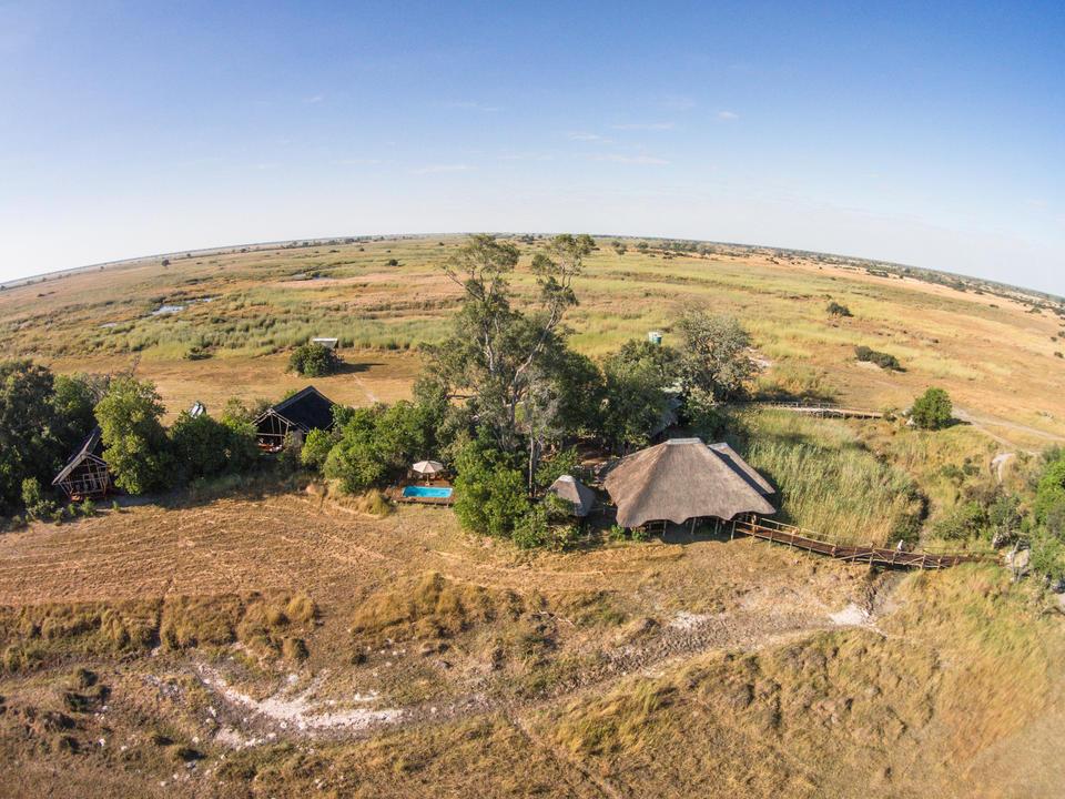 Luftaufnahme des Lagers