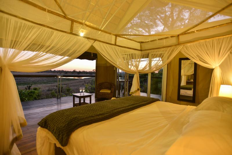Experience the African sunset from the comfort of your chalet
