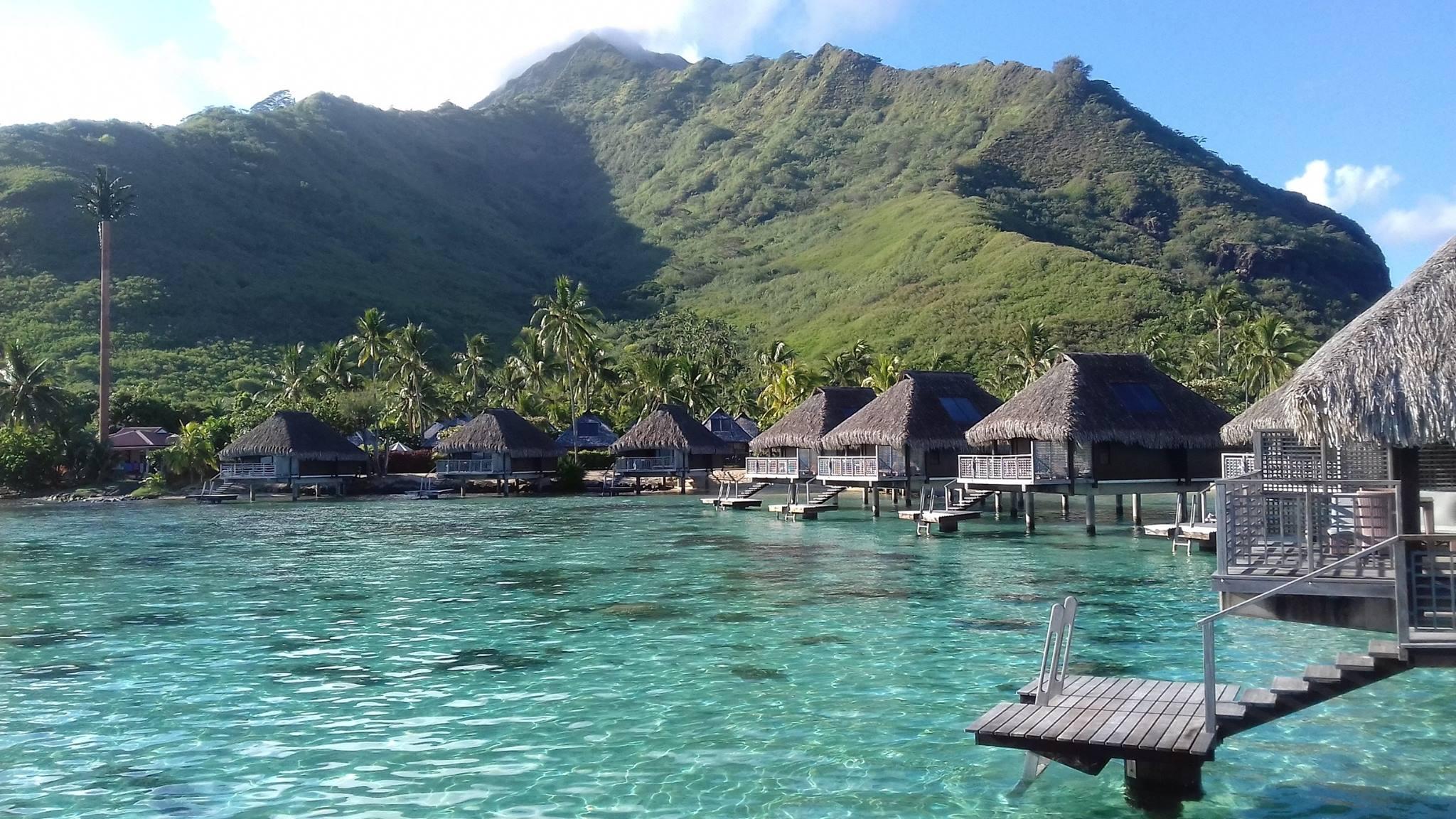 Hilton moorea lagoon resort spa for Garden pool bungalow hilton moorea
